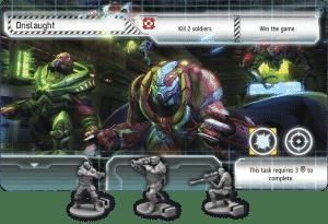 XCOM figurine et carte de jeu